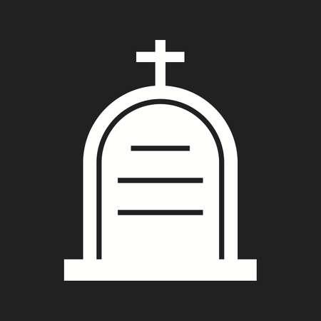 Beautiful Cemetery Vector Glyph Icon Ilustrace