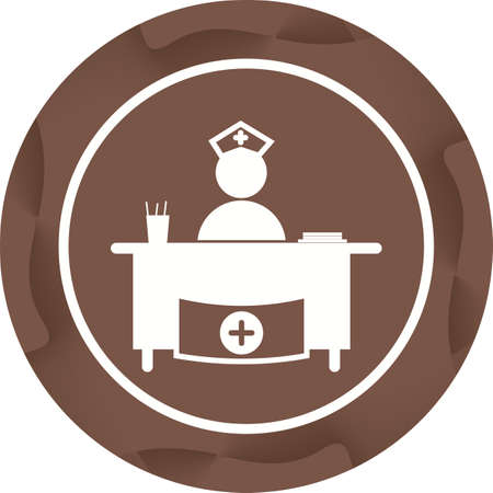 Beautiful Hospital reception Vector Glyph icon 向量圖像