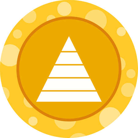 Beautiful Triangle Vector Glyph icon