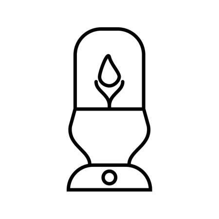 Lit Lamp Beautiful Line Black Icon Ilustrace