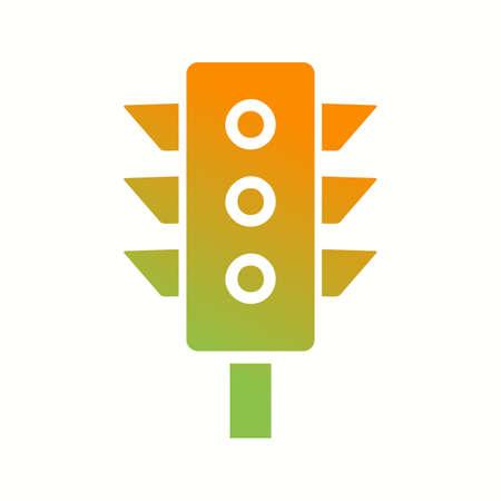 Beautiful Traffic Vector Glyph Icon 向量圖像