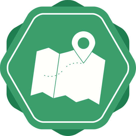 Beautiful Mark on maps Vector Glyph icon