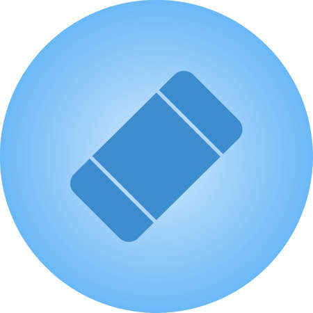 Beautiful Eraser Vector Glyph icon Иллюстрация