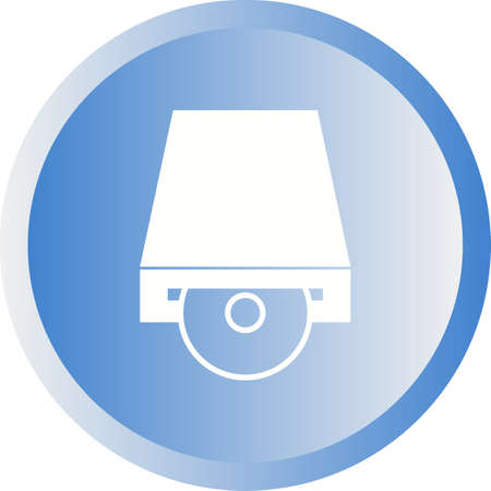 Beautiful Cd Rom Vector Glyph icon 向量圖像