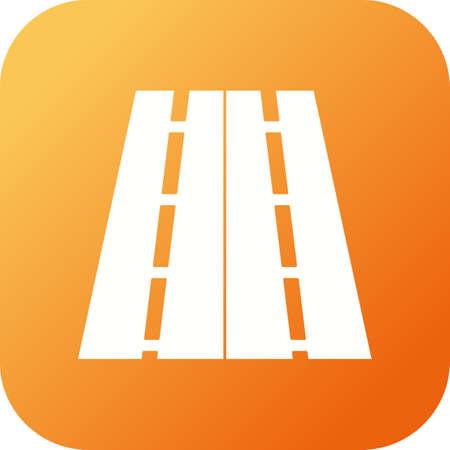Beautiful Highway Vector Glyph icon Çizim