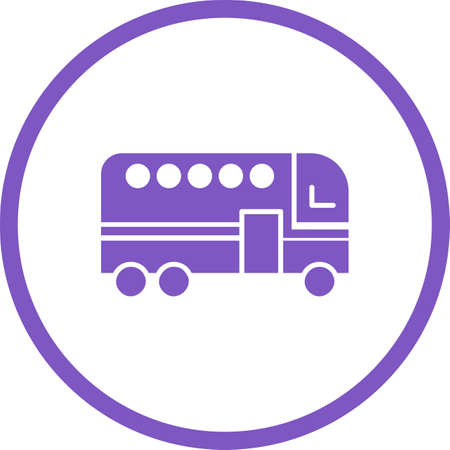 Beautiful Bus Vector Glyph Icon