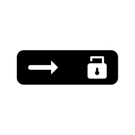 Unlock slide glyph black icon  イラスト・ベクター素材