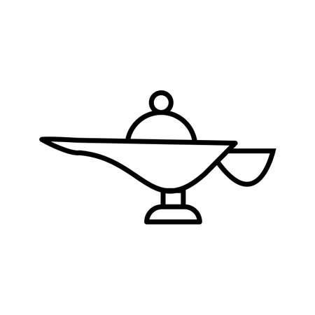 Megical Lamp Beautiful Line Black Icon Ilustrace
