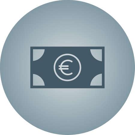 Beautiful Euro Vector Glyph Icon 向量圖像