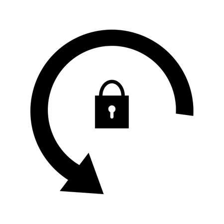 Rotation locked glyph black icon