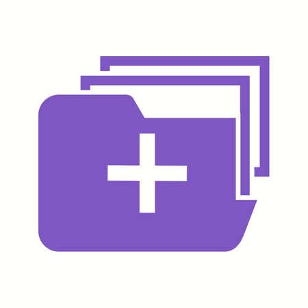 Beautiful Medical folder Vector Glyph icon 向量圖像