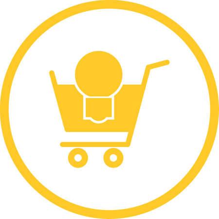 Beautiful Cart Vector Glyph icon 向量圖像