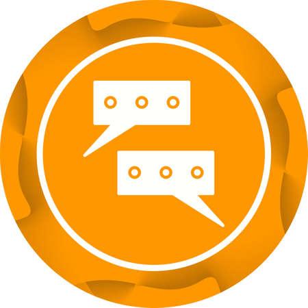 Beautiful Conversations Vector Glyph icon