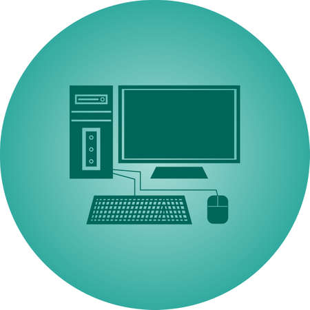 Beautiful Computer Vector Glyph icon