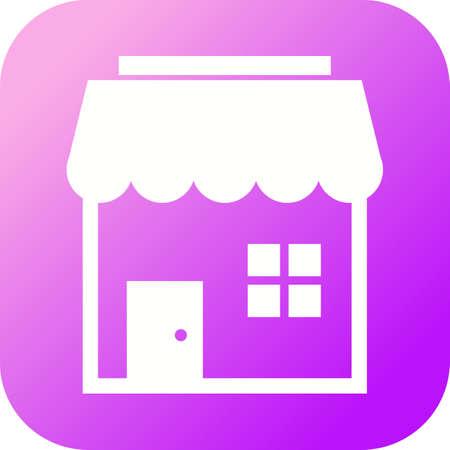 Beautiful Shop Vector Glyph icon 向量圖像