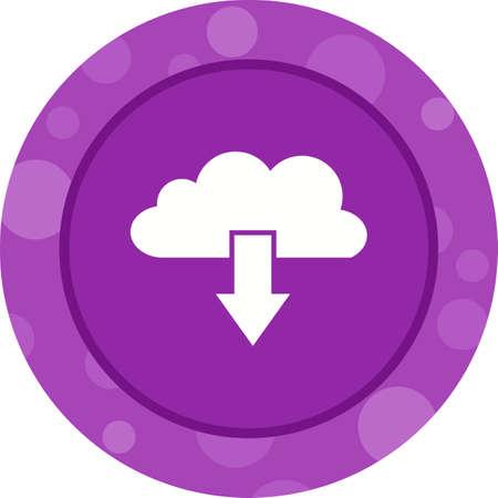 Beautiful Cloud downloads Vector Glyph icon