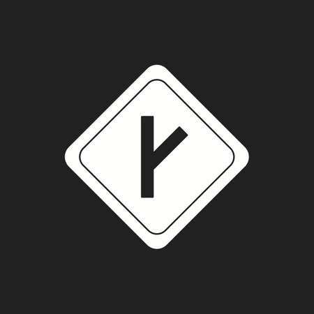 Beautiful Link road sign Vector Glyph icon Illustration