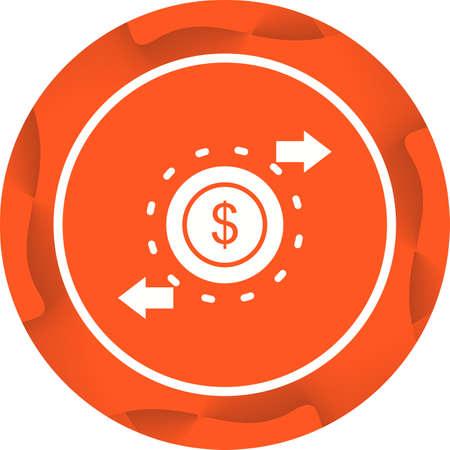 Beautiful Money circulation Vector Glyph icon