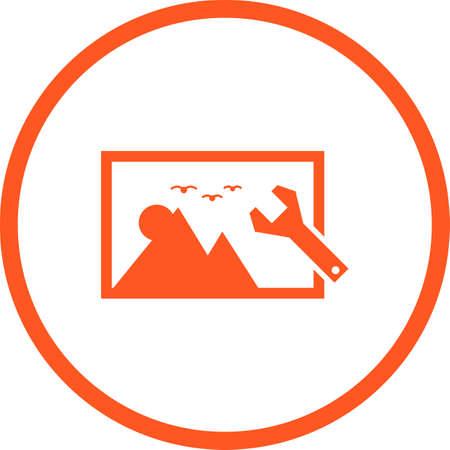 Beautiful Image settings Vector Glyph icon