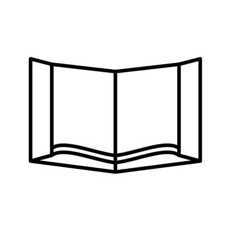 Holy Book Beautiful Line Black Icon