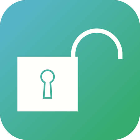 Beautiful Unlock Vector Glyph icon