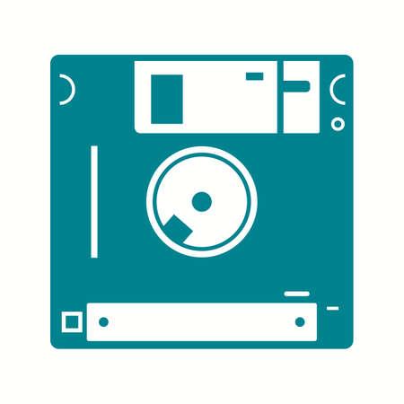Beautiful Diskette Vector Glyph icon