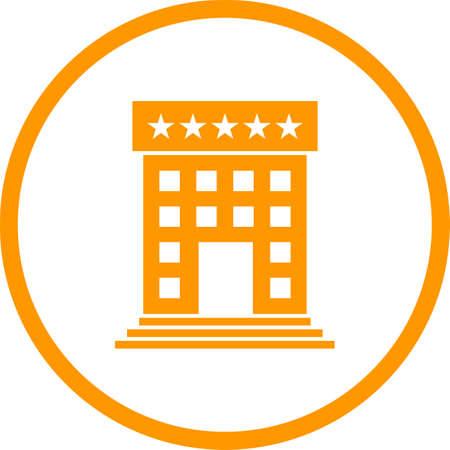 Beautiful Five star hotel Vector Glyph Icon