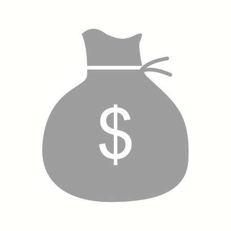 Beautiful Money bag Vector Glyph Icon Çizim