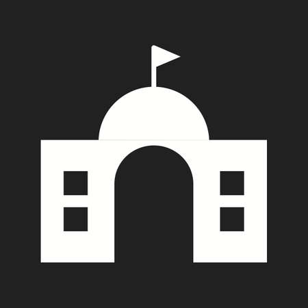 Beautiful University Vector Glyph Icon