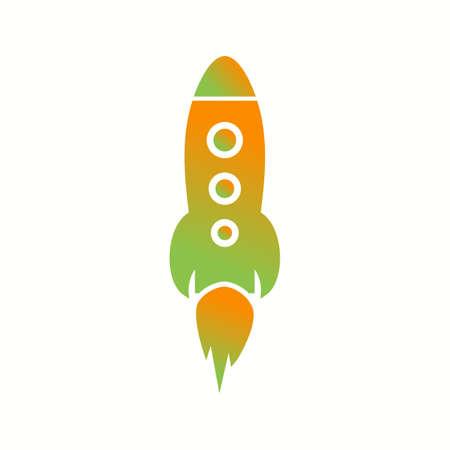 Beautiful Rocket Vector Glyph icon 向量圖像
