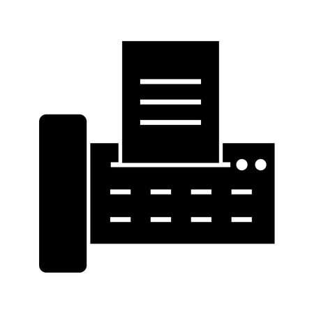 Fax glyph black icon