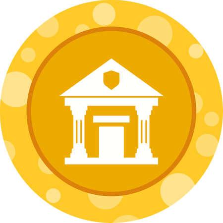 Beautiful Bank Vector Glyph Icon