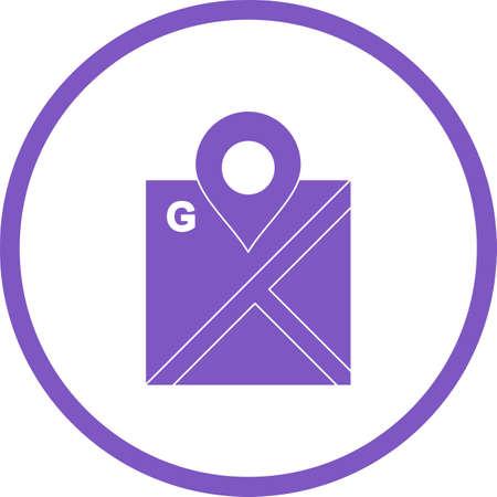 Beautiful Mark maps Vector Glyph icon