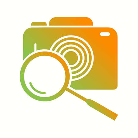Beautiful Search image Vector Glyph icon 向量圖像