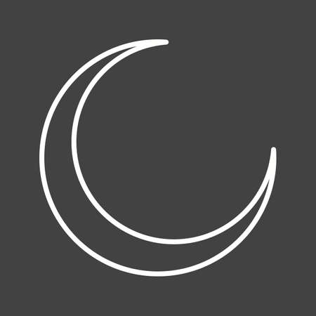 Beautiful Moon Line Vector Icon