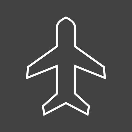 Beautifu Airplane mode Line Vector Icon