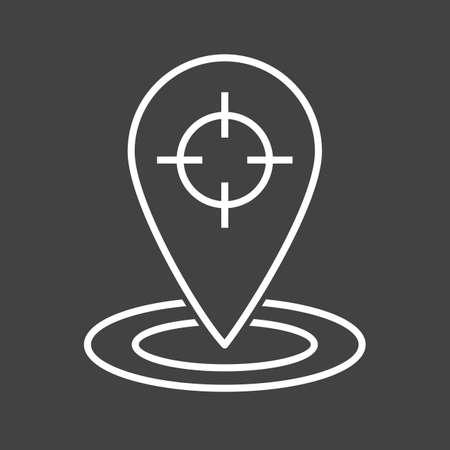 Beautiful Trace Location Line Vector Icon Ilustração