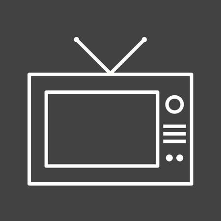 Beautiful Television Line Vector Icon Illusztráció