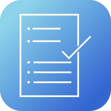 Beautiful Check Report Line Vector Icon