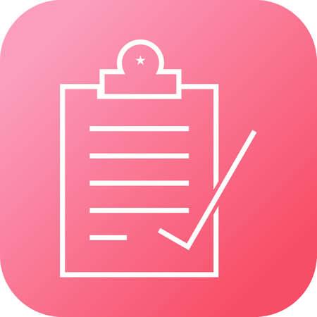 Beautiful Check Report Vector Icon