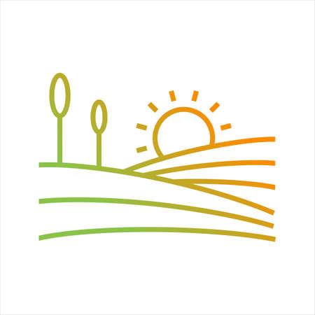Beautiful farms Line Vector Icon
