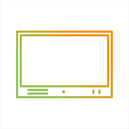 Beautiful Televison Set Line Vector Icon Vectores