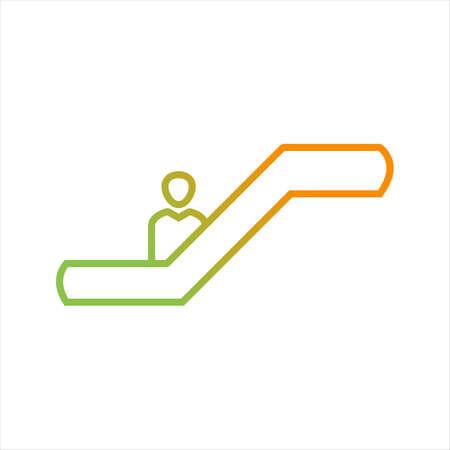 Beautiful escalator Line Vector Icon