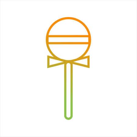 Beautiful Lollipop Line Vector Icon