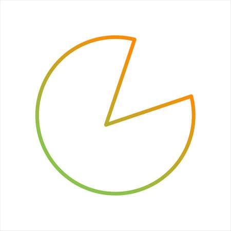 Beautiful Pie Chart Line Vector Icon