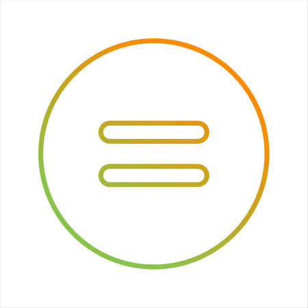 Beautiful Equal to Symbol Line Vector Icon
