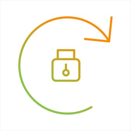 Beautiful Rotation Locked Line Vector Icon