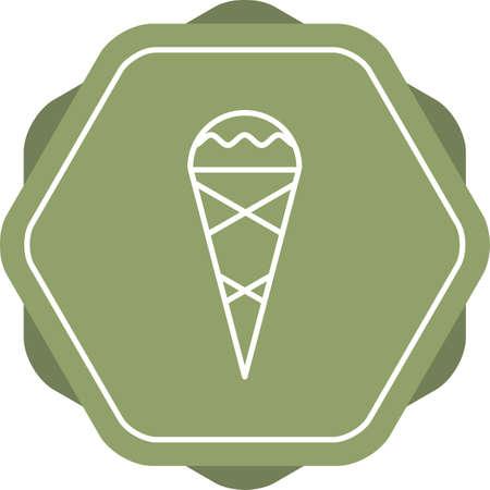 Beautiful Cone Line Vector Icon