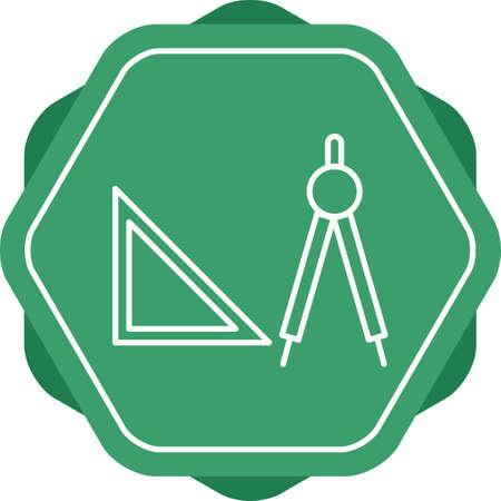 Beautiful Geometry Tools Line Vector Icon
