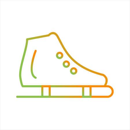 Beautiful Skating Shoe Line Vector Icon